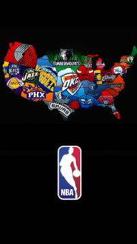 NBA 标志 黑色 地图