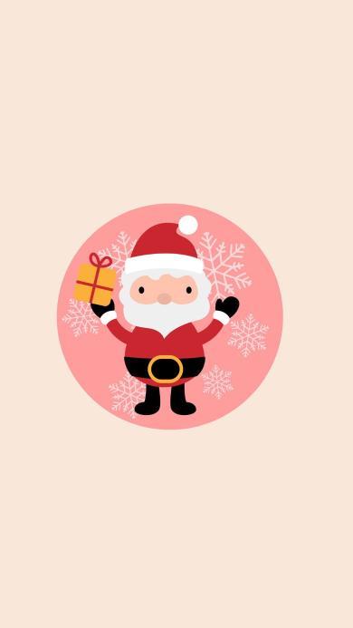 圣诞节 黄色 圣诞老人 插画