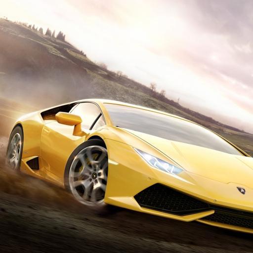 兰博基尼 黄色 跑车 速度
