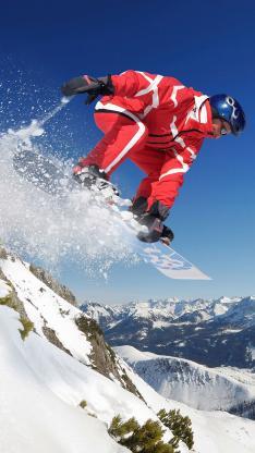 滑雪 雪地 雪山 极限 运动 体育