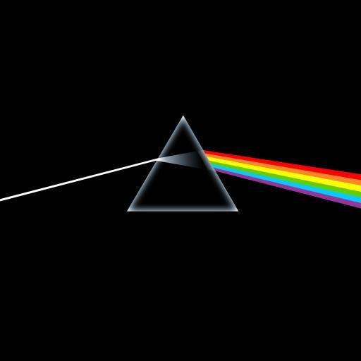 黑色简约壁纸 三角 彩虹