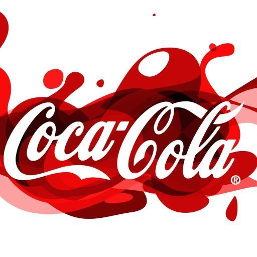白色背景 coca cola