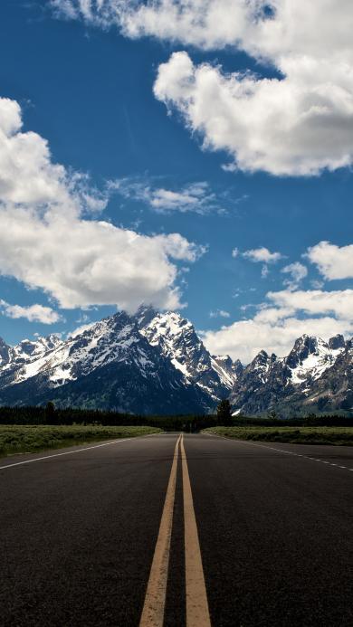 天空 云彩 蓝天 道路