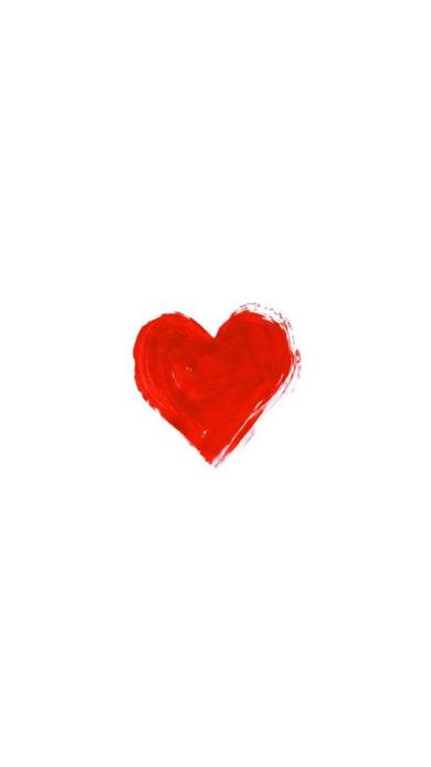 一颗涂鸦的小红心 爱心