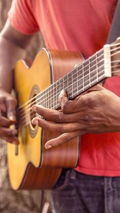 吉他 音乐 弹奏 红色