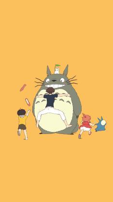 龙猫 漫画 影视 宫崎骏 黄色