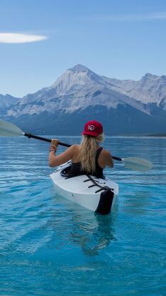 皮划艇 体育 运动 大海 美女 划船