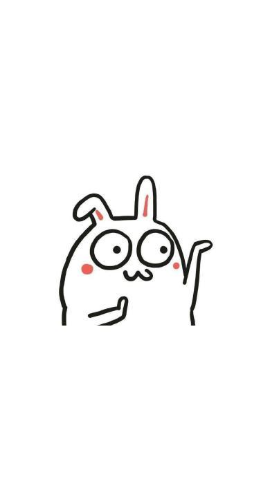 手绘兔子 跳舞 动作 简笔画