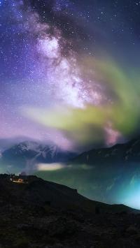 奇幻 极光 南北极 唯美 奇景