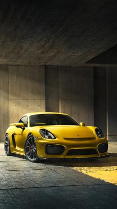 名车 保时捷 911 黄色