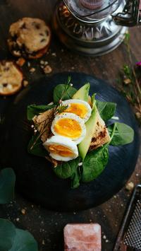美食 早餐 鸡蛋 牛油果 营养 蔬菜