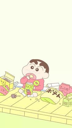 蜡笔小新 日本 动漫 吃 零食 卡通 影视