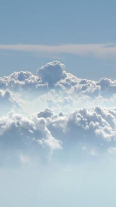 云层 白色 蓝色 天空云朵