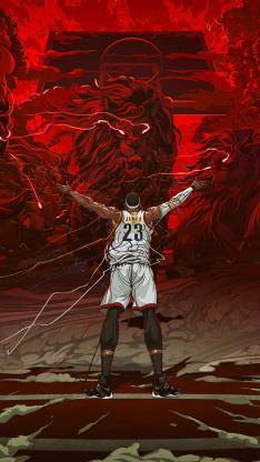 创意 篮球 NBA 漫画