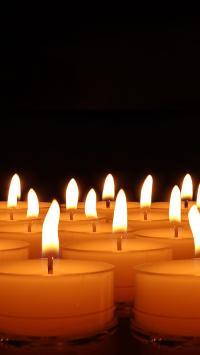 光 蜡 烛台 灯芯 浪漫 心情 茶灯 镜像 来临 灯