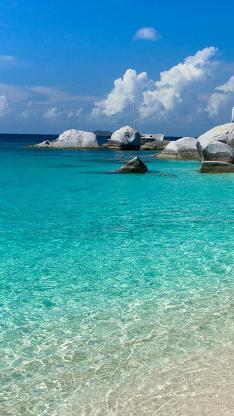 大海 岩石