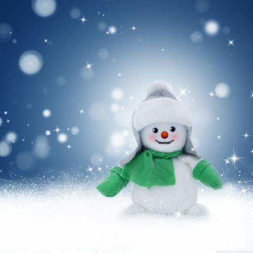 冬天 下雪 雪人 雪花 白色