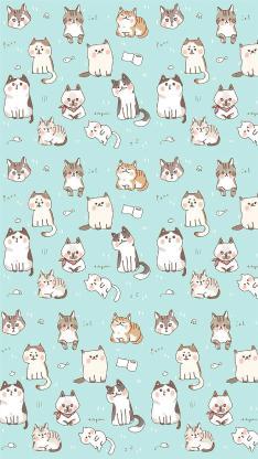 背景 聊天 图案 猫 平铺