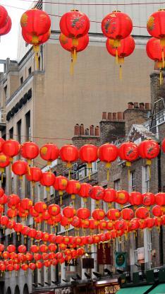 灯笼 喜庆 春节 新年 红色