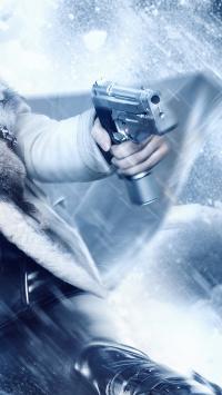 武器 手枪 下雪 雪天