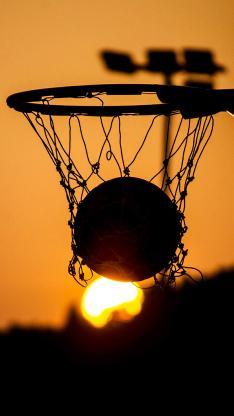 篮球架 篮球 夕阳 落日 运动.jpeg