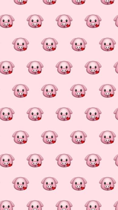 粉色背景 平铺emoji表情