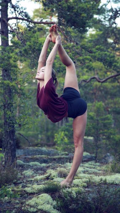 瑜伽 健身 运动 女孩 形体 养生