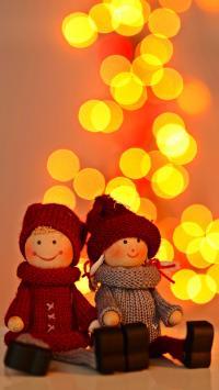 小人 玩偶 毛衣 星空