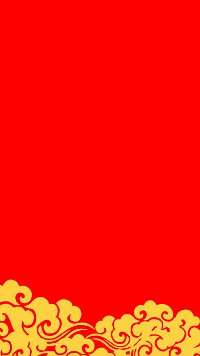 祥云 纹饰 祥云 中国风 红色 春节