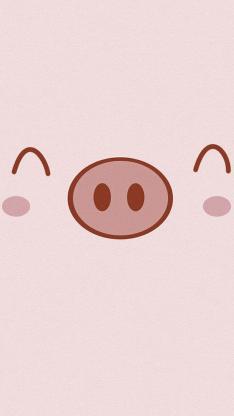 动物 笑脸 猪鼻子 卡通 萌 猪 可爱 粉