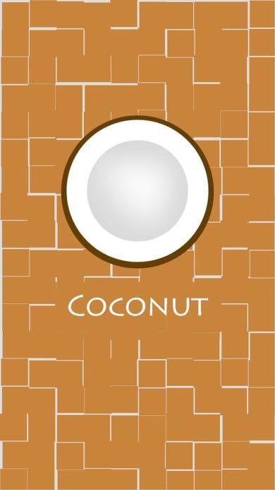 卡通 椰子 coconut