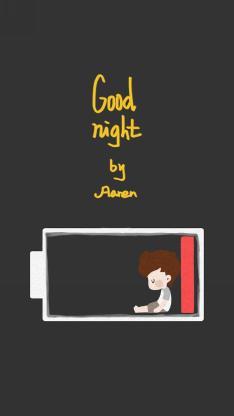 goodnight 英文 电量 创意