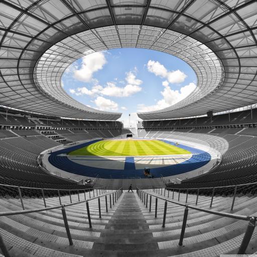 场馆 球场 环形 足球 天空