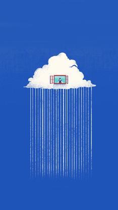 下雨 云彩 窗户 蓝色 白云