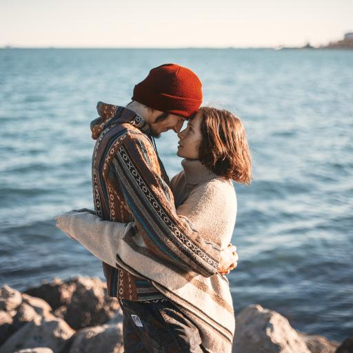 情侣 爱情 海 拥抱