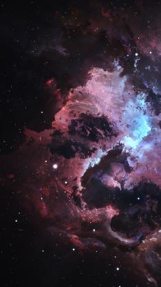 星空 宇宙 紫色 梦幻