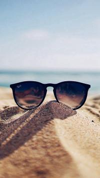 创意 眼镜 沙滩 大海