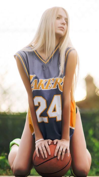 篮球 美女 金发 性感 体育 运动