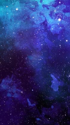 宇宙 星空 蓝色 紫色 太空