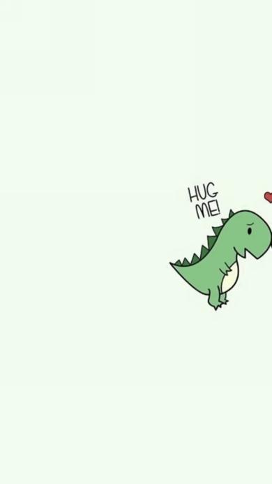 可爱 卡通 小恐龙 hugMei