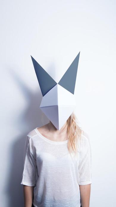 面具 白色 几何 欧美