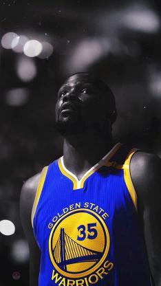 NBA杜兰特 蓝色球衣 35号