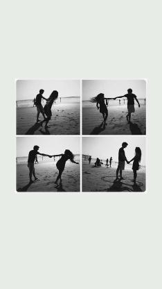 大海 沙滩 情侣 爱情 向往