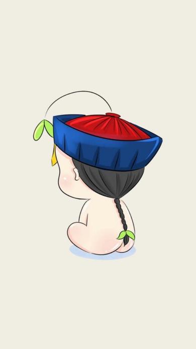 萌萌的小僵尸 可爱 卡通