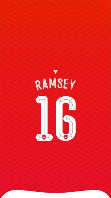 足球 阿森纳 ramsey 16号