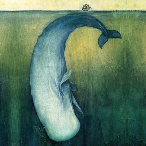 鲸鱼 动漫 手绘 大海