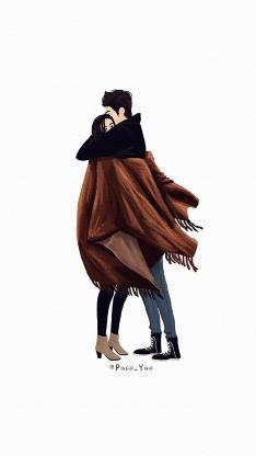 爱情 情侣 拥抱 披风