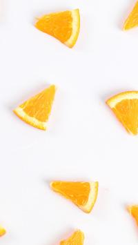 水果 橙 橙色 切块