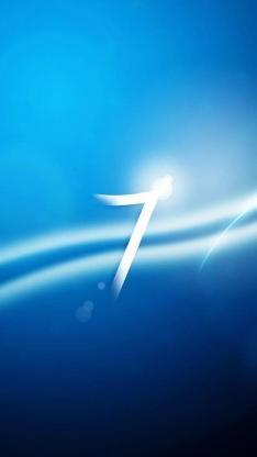 科幻 7 蓝色 线条
