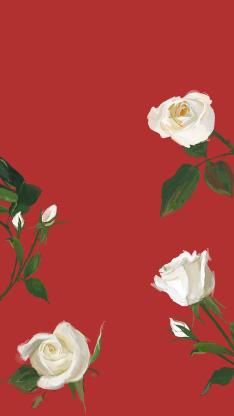 情人节主题 手绘玫瑰壁纸